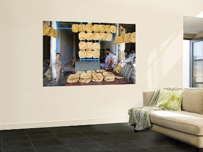 Men and Boys at Traditional Afghan Bakery-Tony Wheeler-Wall Mural