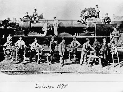 Men and Wolverhampton Locomotive--Photographic Print