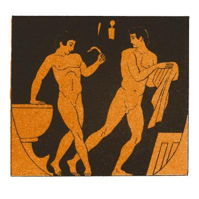 Men Bathing in Ancient Greece--Giclee Print