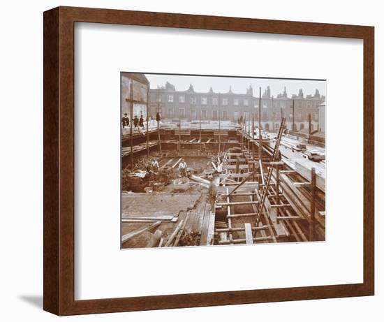 Men Building the Camden Town Sub-Station, London, 1908--Framed Photographic Print