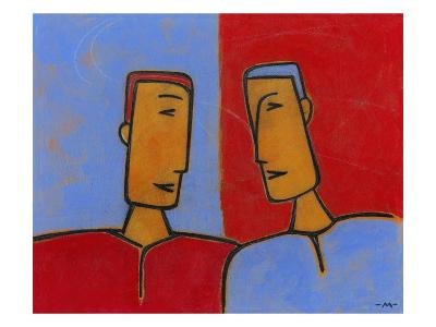 Men Conversing-Marie Bertrand-Giclee Print