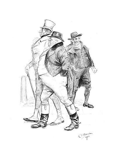Men in 19th-Century Dress, 1901-Charles Edmond Brock-Giclee Print