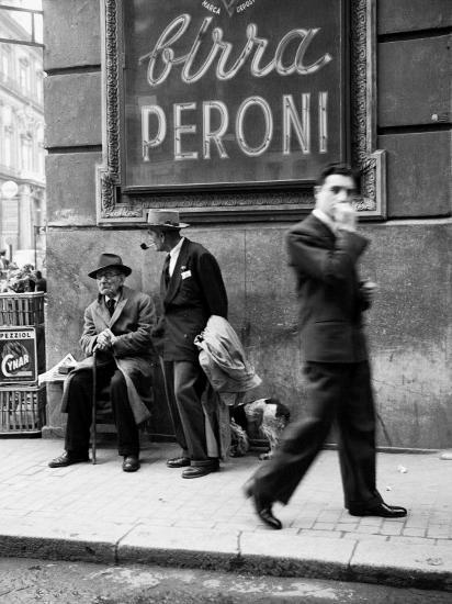 Men in a Street of Napoli--Photographic Print