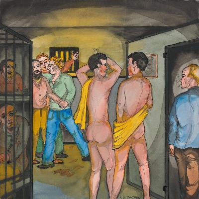 Men in the Seattle City Jail-Ronald Ginther-Giclee Print