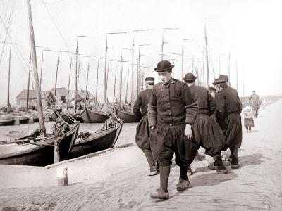 Men in Traditional Dress, Marken Island, Netherlands, 1898-James Batkin-Photographic Print