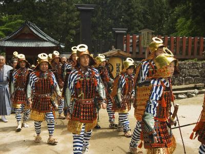Men in Traditional Samurai Costume, Toshogu Shrine, Tochigi Prefecture, Japan-Christian Kober-Photographic Print