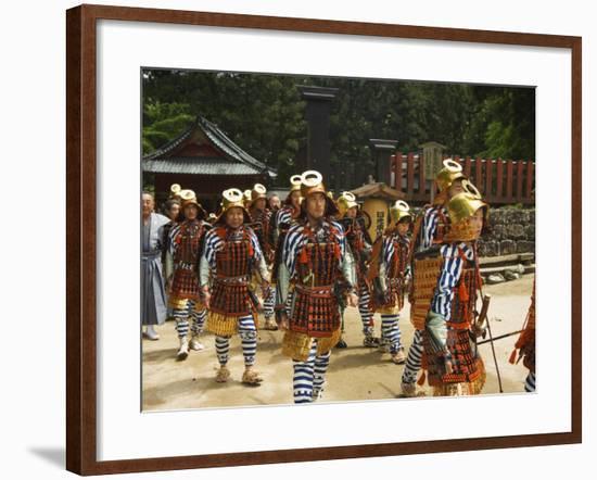 Men in Traditional Samurai Costume, Toshogu Shrine, Tochigi Prefecture, Japan-Christian Kober-Framed Photographic Print