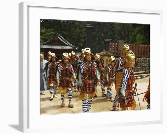 Men in Traditional Samurai Costume, Toshogu Shrine, Tochigi Prefecture, Japan-Christian Kober-Framed Photographic Print