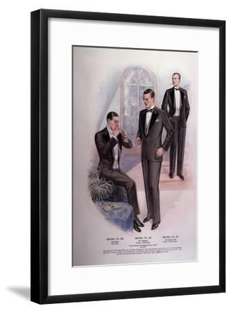 Men in Tuxedos and Tails--Framed Giclee Print