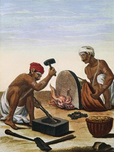 Men Melting Metal--Giclee Print