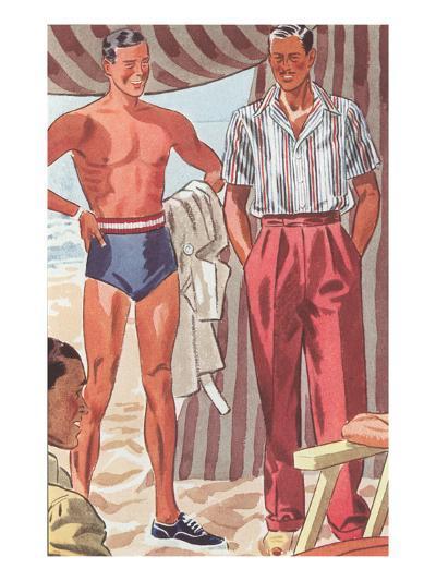 Men Modeling Clothes--Art Print