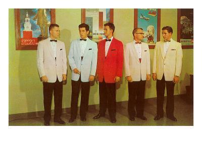 Men Modeling Tuxedos--Art Print