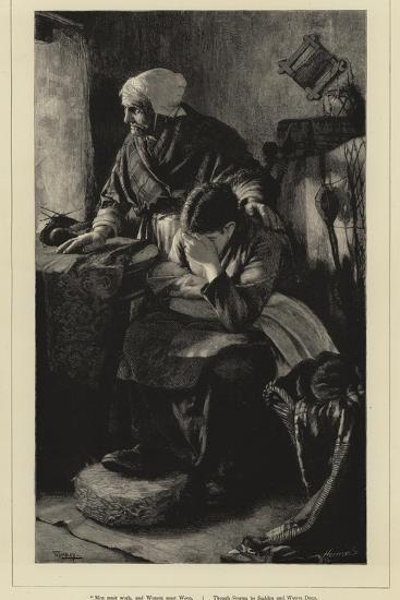 Men Must Work-Walter Langley-Giclee Print