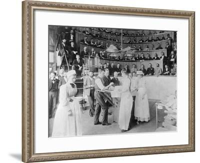 Men Observing Early Surgery--Framed Photographic Print