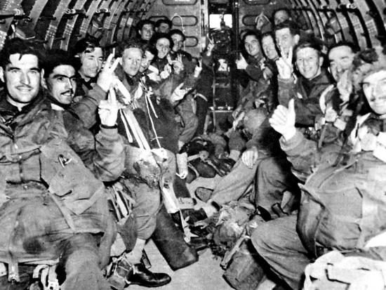 Men of the British First Airborne Division in a Glider; Second World War--Photographic Print