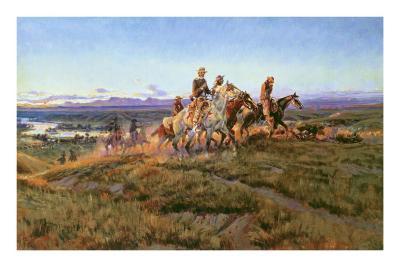 Men of the Open Range-Charles Marion Russell-Art Print