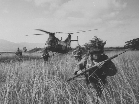Men of the Us Army 25th Infantry Division During Jungle Training  Photographic Print by Nat Farbman | Art com