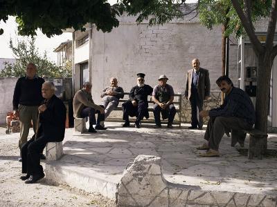 Men of the Village, Dhora, Cyprus-Michael Short-Photographic Print