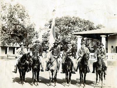 Men on Horseback--Photographic Print