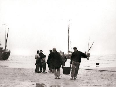 Men on the Shore, Scheveningen, Netherlands, 1898-James Batkin-Photographic Print