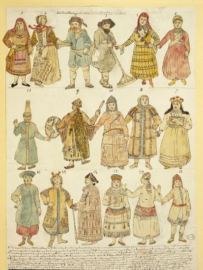 Men's and Women's Costumes--Giclee Print