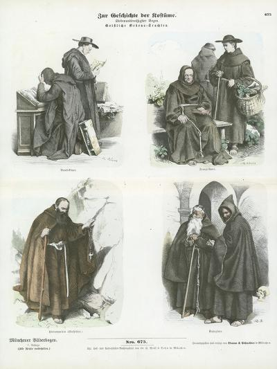 Men's Costumes of Christian Religious Orders--Giclee Print
