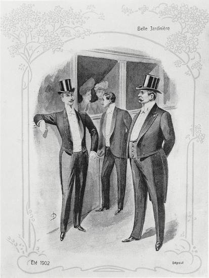 Men's Evening Suits--Giclee Print