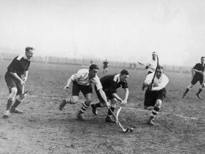 Men's Hockey Match--Photographic Print