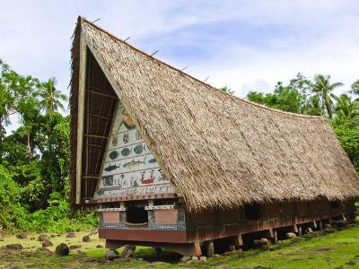 Men's Meeting House at Belau National Museum Koror, Republic of Palau, Pacific-Nico Tondini-Photographic Print