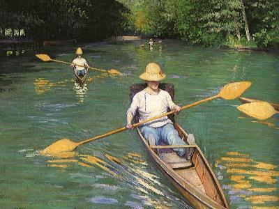 Men Sculling, 1877-Gustave Caillebotte-Giclee Print