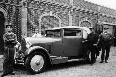 Men Standing by a Talbot Darracq, C1930--Photographic Print