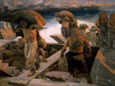 Men Unloading at Harbor, 1904-Paul Sieffert-Giclee Print