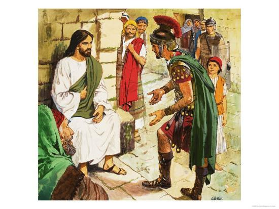 Men Who Came to Jesus: The Roman Soldier-Clive Uptton-Giclee Print