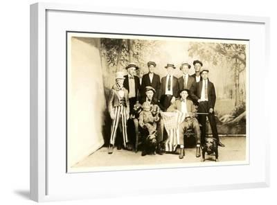 Men with Uncle Sam, Flag--Framed Art Print