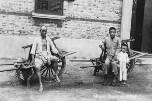 Men with Wheelbarrows, Vietnam, 20th Century