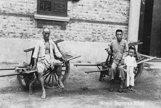Men with Wheelbarrows, Vietnam, 20th Century--Giclee Print
