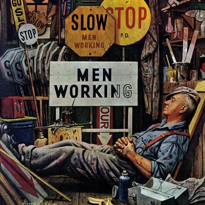 """Men Working,"" April 12, 1947-Stevan Dohanos-Giclee Print"