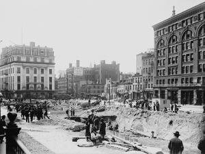 Men Working on Centre and Grand Street