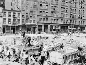 Men Working on Centre Street