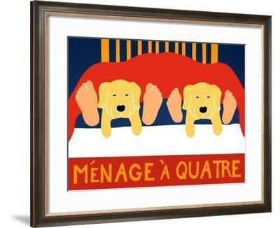 Menage A Quatre Yelllow Yellow-Stephen Huneck-Framed Giclee Print