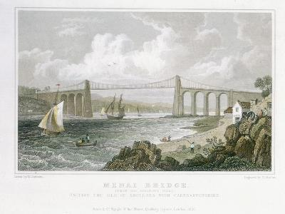 Menai Bridge (From the Anglesea Sid), 1830-Thomas Barber-Giclee Print