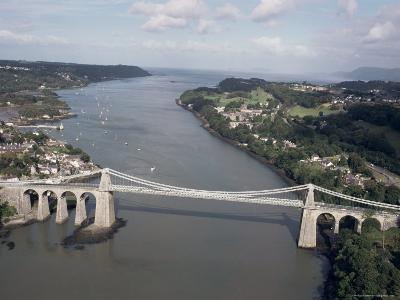 Menai Bridge, Wales, United Kingdom-Adam Woolfitt-Photographic Print