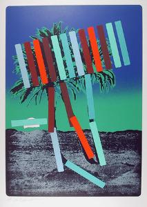 Blue Palm by Menashe Kadishman
