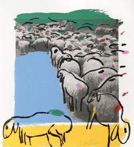 Sheep Portfolio 7 by Menashe Kadishman