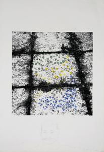 Untitled - Tiles Remarqued by Menashe Kadishman