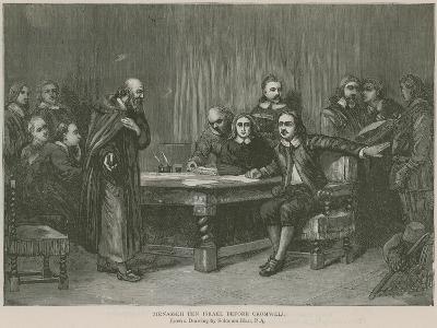 Menasseh Ben Israel before Cromwell-Axel Torneman-Giclee Print