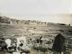 Tiberias from the Southwest, 1850s by Mendel John Diness