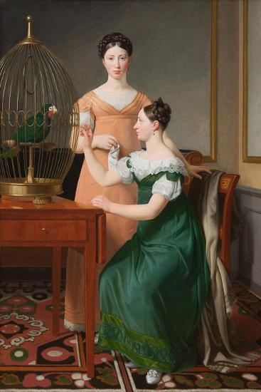 Mendel Levin Nathanson's Elder Daughters, Bella and Hanna, 1820-Christoffer-wilhelm Eckersberg-Giclee Print