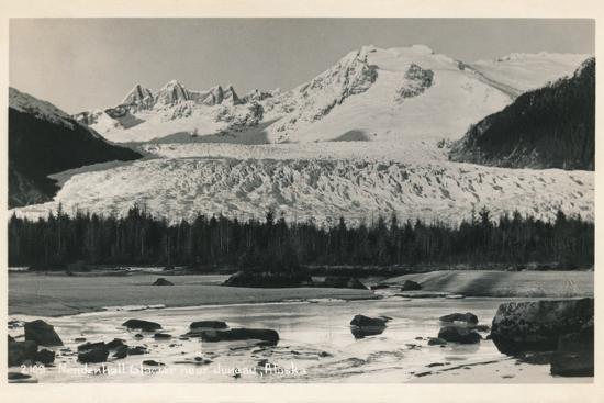 'Mendenhall Glacier near Juneau, Alaska', c1940-Unknown-Photographic Print