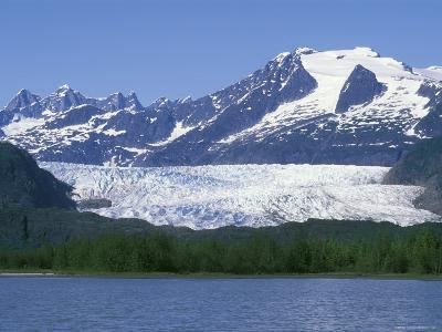 Mendenhall Lake, Mendenhall Towers, Glacier and Mount Wrather, Alaska-Rich Reid-Photographic Print